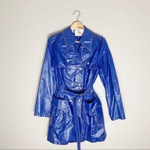 70s vintage dagger collar rain coat.